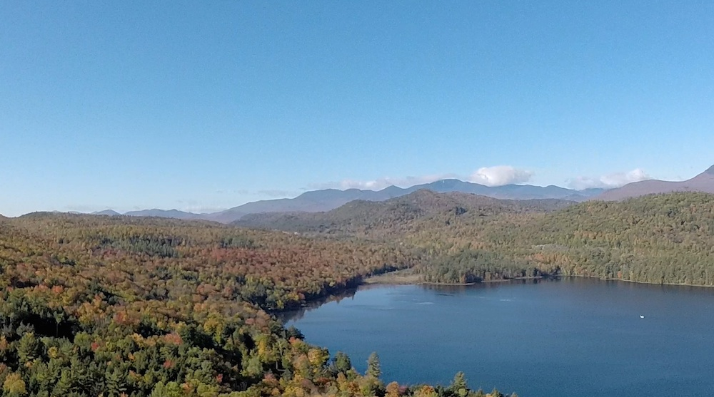Lincoln Pond and Dix Mountain to the south (10-5-2014) -- Gerald Zahavi
