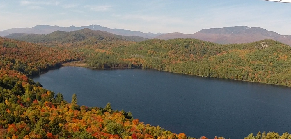 Lincoln Pond to the Southwest -- from above hill on east side of Upper Pond (Oct. 5, 2014)